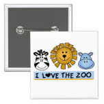 Zoo Friends 15 Cm Square Badge