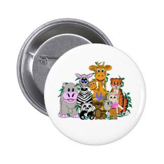 ZOO Girl 6 Cm Round Badge
