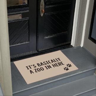 """""""Zoo In Here"""" Funny Dog Doormat"""
