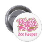 Zoo Keeper Gift Pinback Buttons