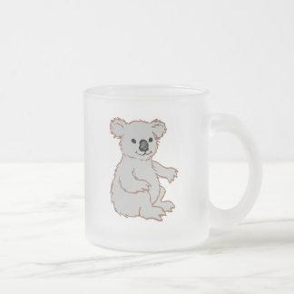 Zoo KOALA Frosted Glass Coffee Mug