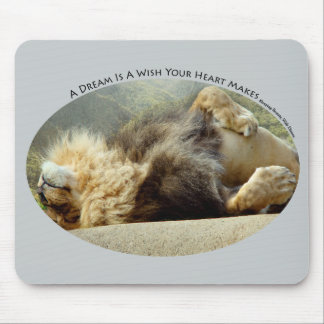Zoo Lion Dreaming of a Jungle Mousepad