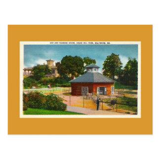 Zoo, Mansion House, Baltimore Maryland Postcard