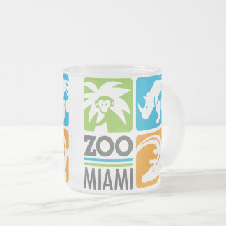 Zoo Miami Frosted Glass Mug