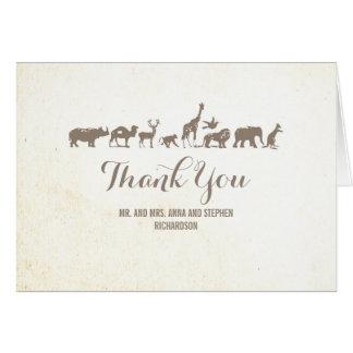 Zoo - Safari Wildlife Thank You Card