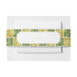 zoo themed pattern invitation belly band