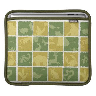 zoo themed pattern iPad sleeve