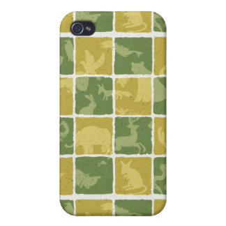 zoo themed pattern iPhone 4/4S case
