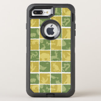 zoo themed pattern OtterBox defender iPhone 7 plus case