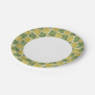 zoo themed pattern paper plate