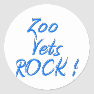 Zoo Vets Rock ! Round Stickers