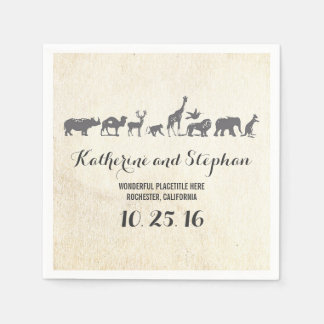 zoo wedding or safari wildlife paper napkins