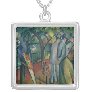 Zoological Garden I, 1912 Silver Plated Necklace