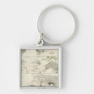 Zoological geography key ring