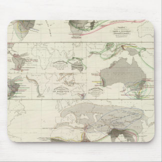 Zoological geography mouse mat