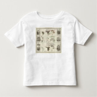 Zoological geography toddler T-Shirt