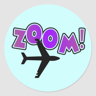 Zoom Airplane Tshirts and Gifts Classic Round Sticker