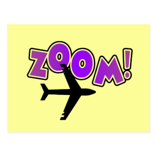 Zoom Airplane Tshirts and Gifts Postcard