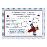 Zoom Along/Aeroplane 2 Baby Shower Invitations