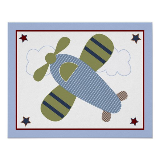 Zoom Along/Cute Airplanes/Planes Poster