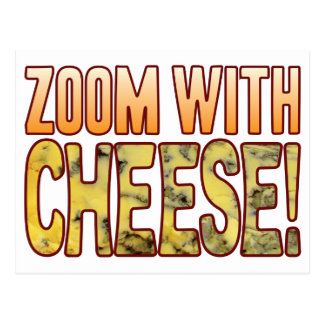 Zoom Blue Cheese Postcard