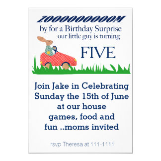 Zoom By Birthday Surprise 13 Cm X 18 Cm Invitation Card