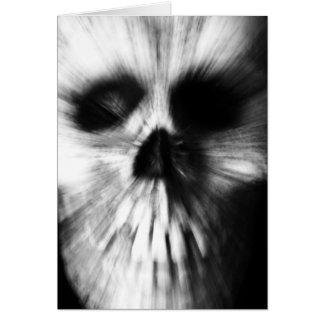 Zoom Effect Skull Greeting Card