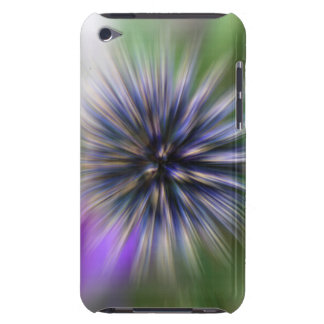 Zoom Flower Purple and Green Digital Art Case-Mate iPod Touch Case