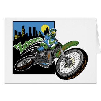 Zoom Motorcross Greeting Card