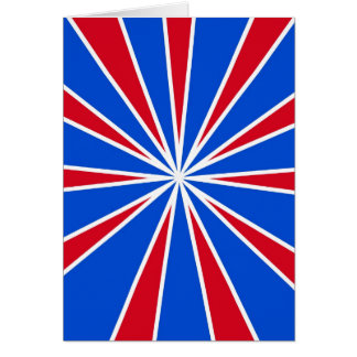 ZOOM! Red White And Blue Card