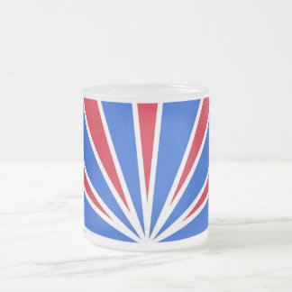 ZOOM! Red White And Blue Frosted Glass Mug