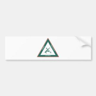 Zoombie unity control bumper sticker
