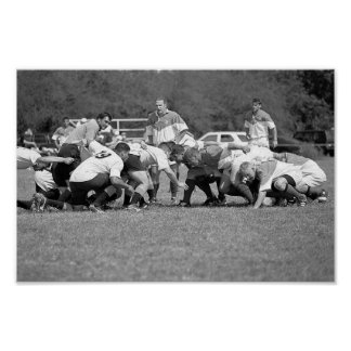 Zoomie Rugby Scrum Poster