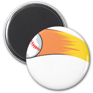 Zooming Baseball 6 Cm Round Magnet