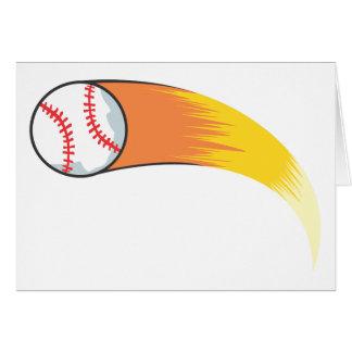 Zooming Baseball Greeting Card