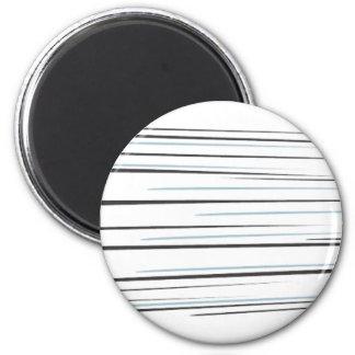 Zooming Baseball Hit 6 Cm Round Magnet