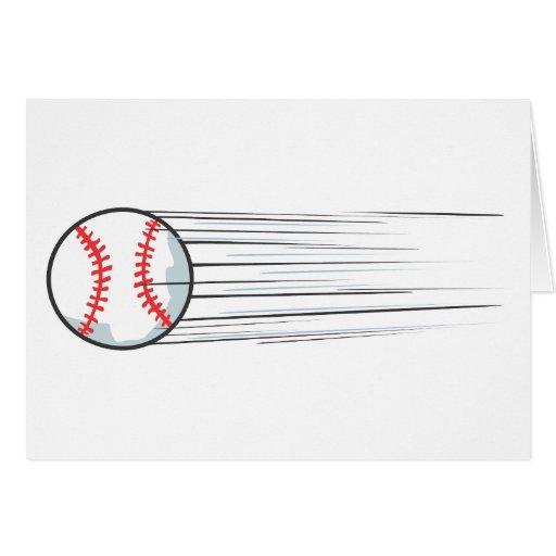 Zooming Baseball Hit Greeting Card