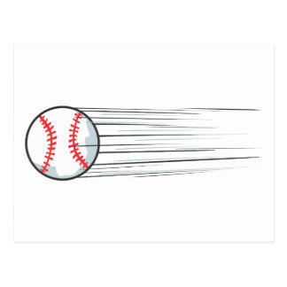 Zooming Baseball Hit Post Cards