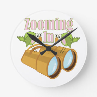 Zooming In Wall Clock
