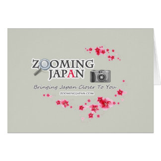 Zooming Japan Logo for Japan Lovers Note Card
