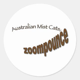 zoompounce choc.png round sticker