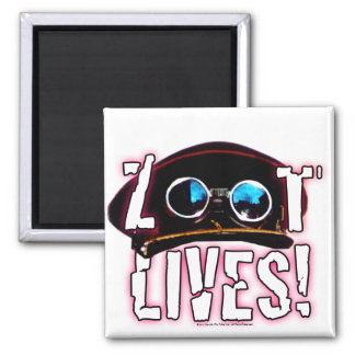 Zoot Lives Square Magnet