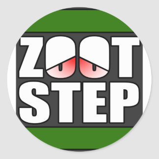 Zootstep zooted Funny DUBSTEP Classic Round Sticker