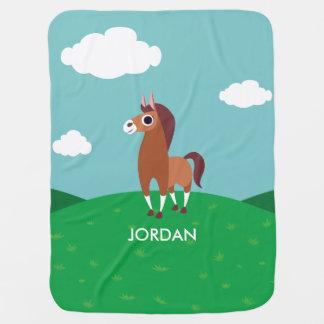Zora the Horse Baby Blanket