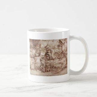 Zorn (Anger) by Pieter Bruegel the Elder Basic White Mug