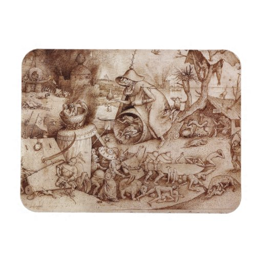Zorn (Anger) by Pieter Bruegel the Elder Magnets