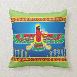 Zoroastrian Persian Faravahar Cushion