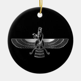 Zoroastrianism Faravahar Christmas Ornament