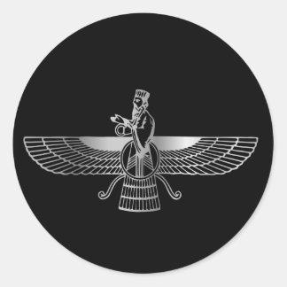 Zoroastrianism Faravahar Round Sticker