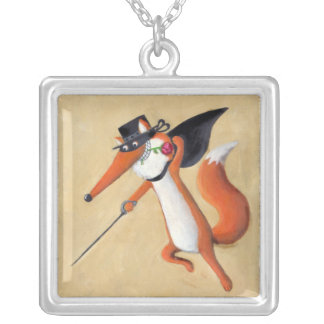 Zorro Fox Silver Plated Necklace